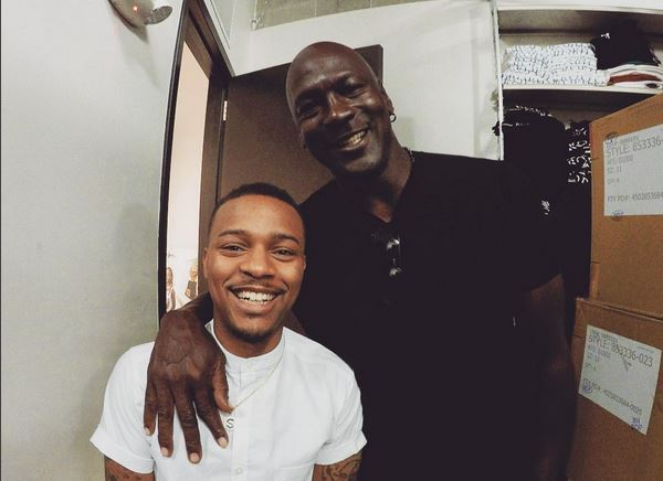 Michael Jordan Bow Wow Help Ring In Marcus Trophy Room Store