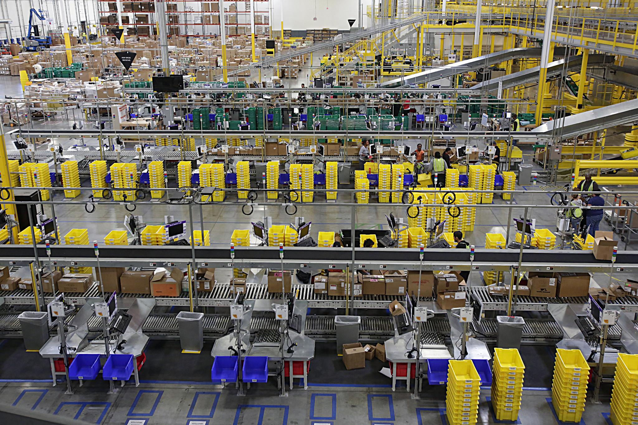 Amazon's warehouse in San Bernardino, seen here in 2013, is one of five in the Inland Empire.