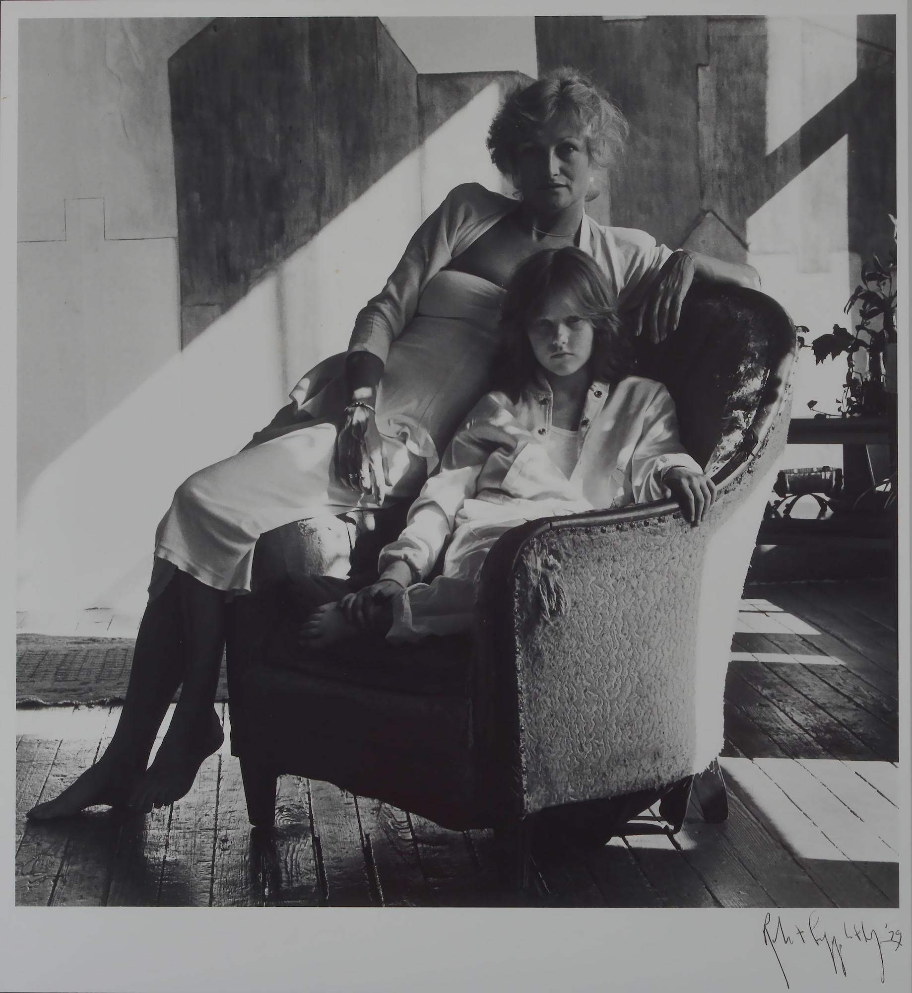 Andes Hruby and her mother, Eve, whom Robert Mapplethorpe like to call Eva.