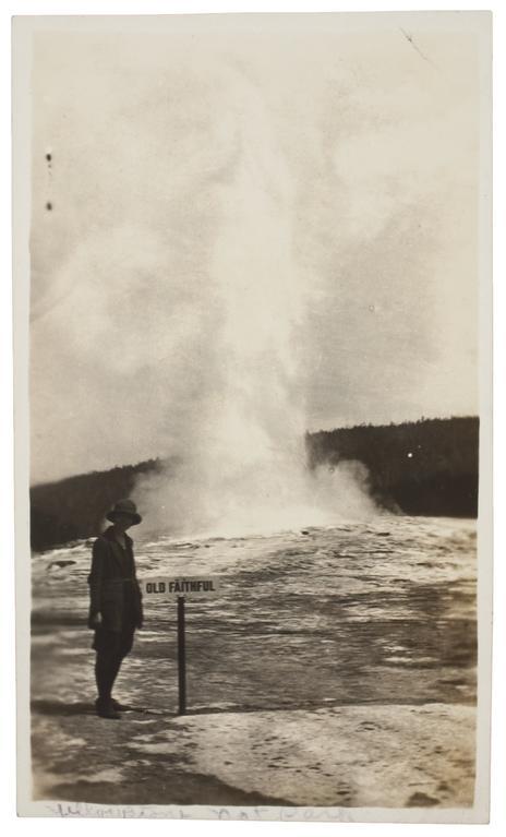 Photographer unkown, Old Faithful Geyser, Yellowstone National Park, ca. 1915