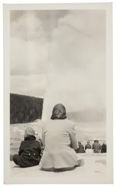 Photographer unkown, Old Faithful Geyser, Yellowstone National Park, June 1940