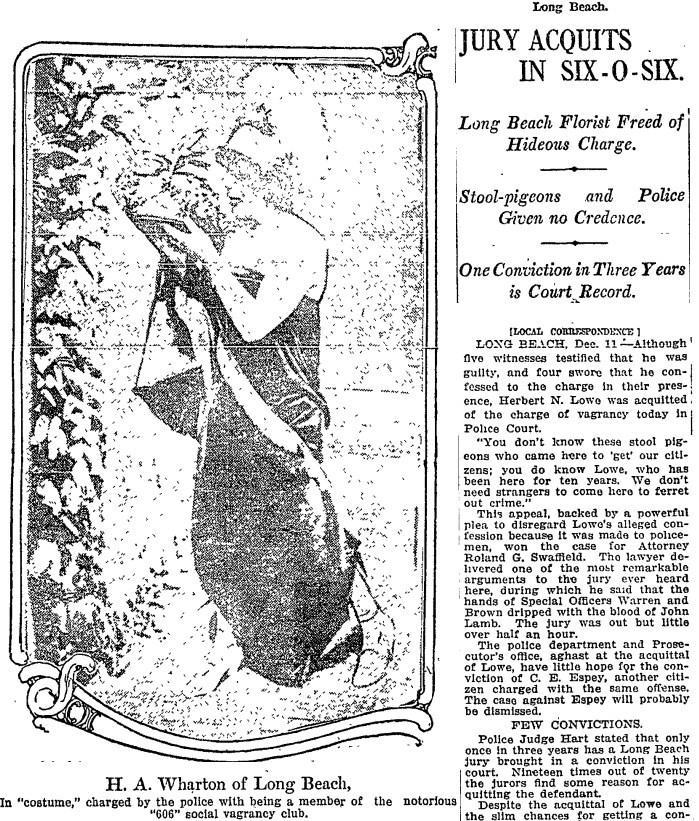 Dec. 12, 1914: Jury Acquits in Six-O-Six.