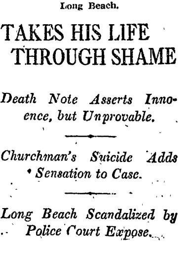 Nov. 15, 1914: Takes His Life Through Shame
