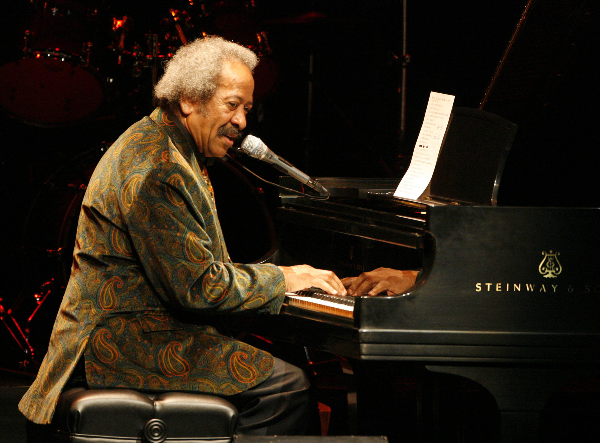 Allen Toussaint performing at UCLA's Royce Hall in 2010.