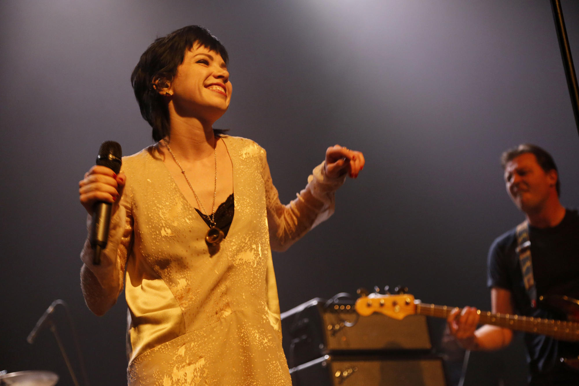Carly Rae Jepsen performing at the Fleetwood Mac Fest on Feb. 10.