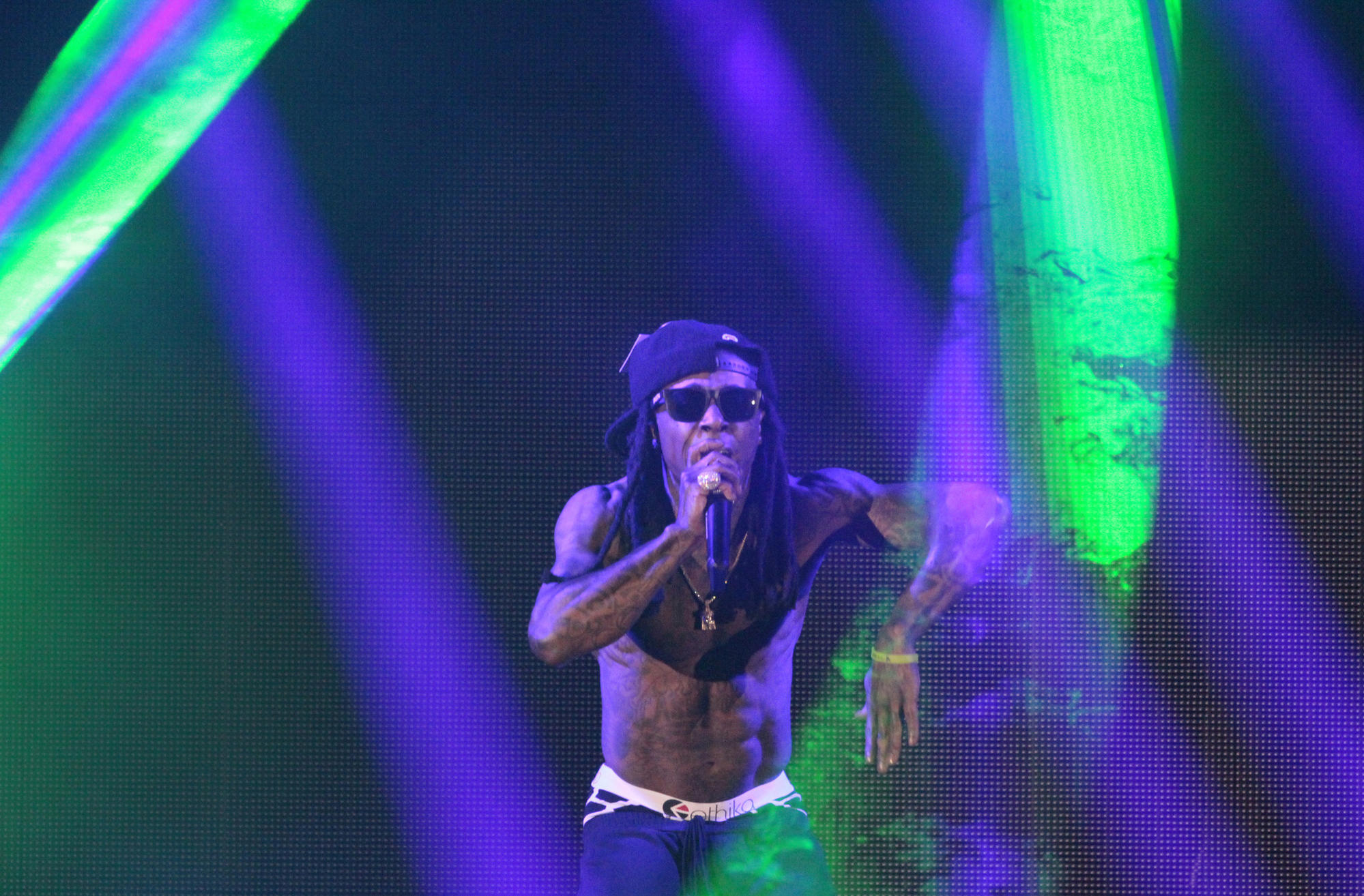 Lil Wayne at the Hollywood Bowl on Sep. 22, 2014.