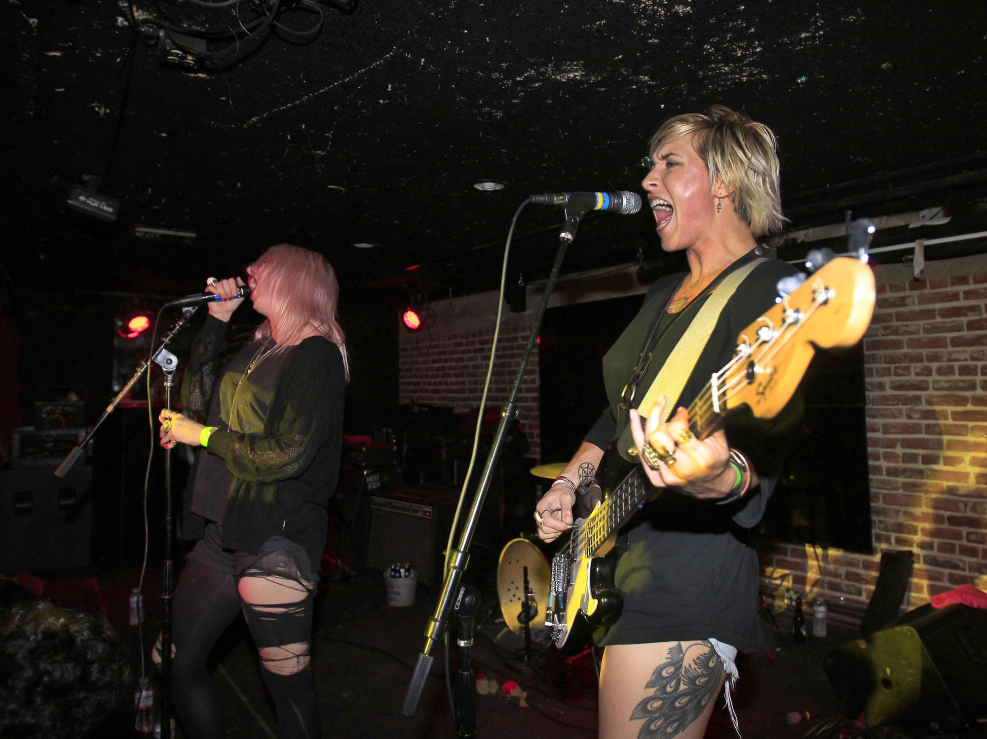 White Lung performs at Los Globos in Los Angeles on July 23, 2014.