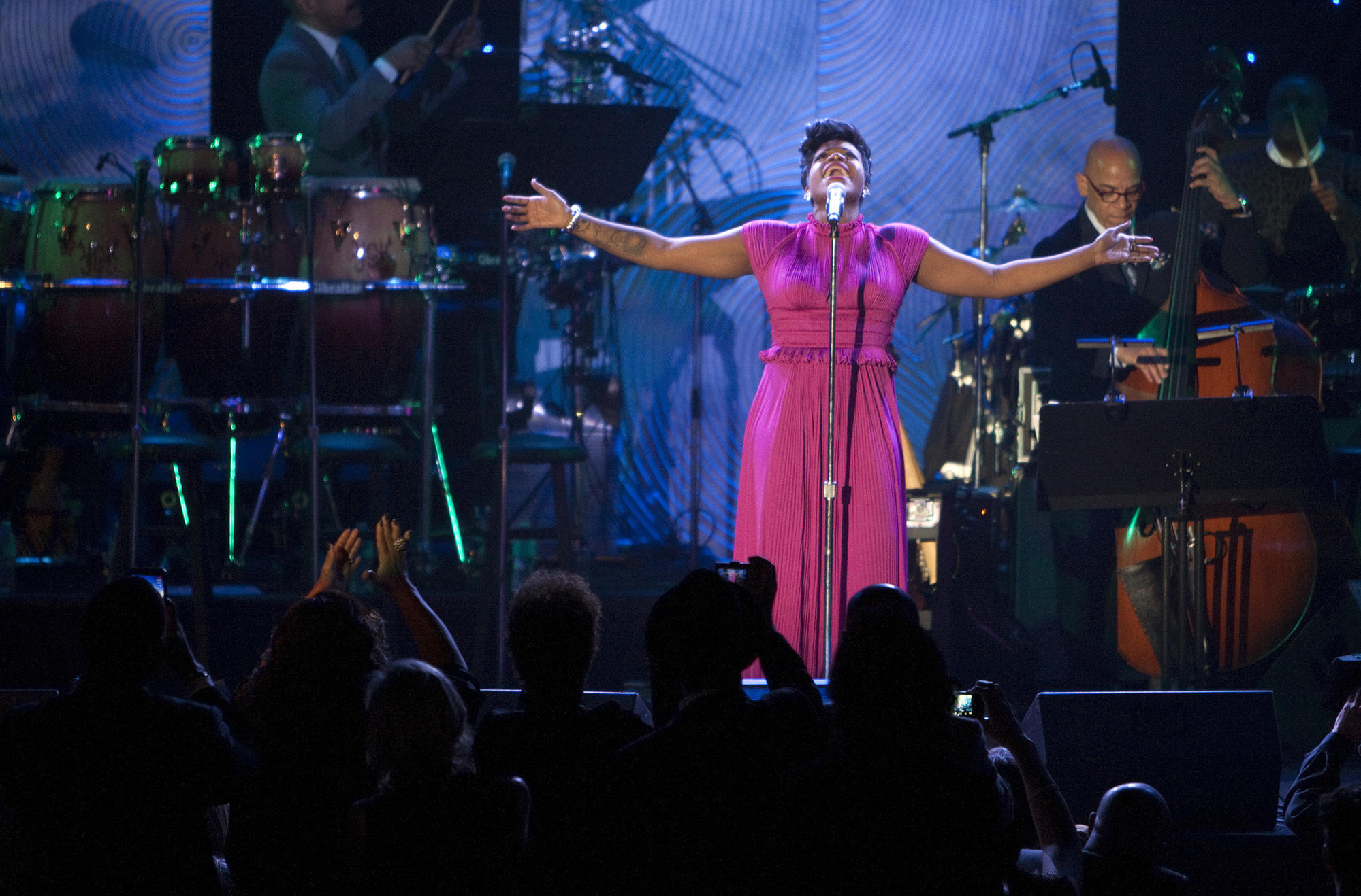Fantasia Barrino performs during the 2014 Pre-Grammy Gala at the Beverly Hilton on Jan. 25, 2014.