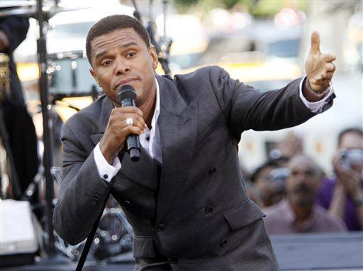 Maxwell performing on 'The Early Show' in New York on Feb. 16, 2015.