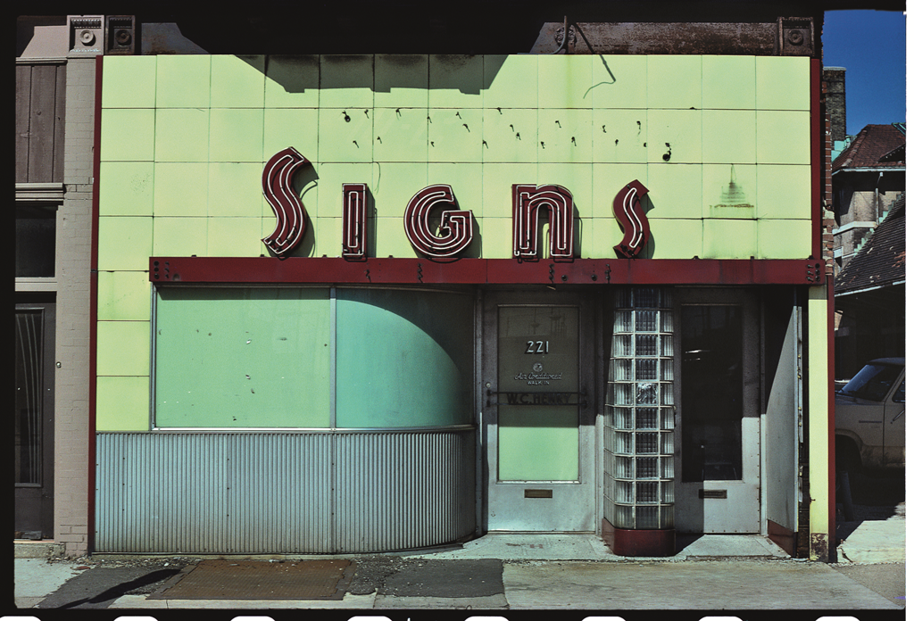 Signs store, Springfield, Ill., 1980.