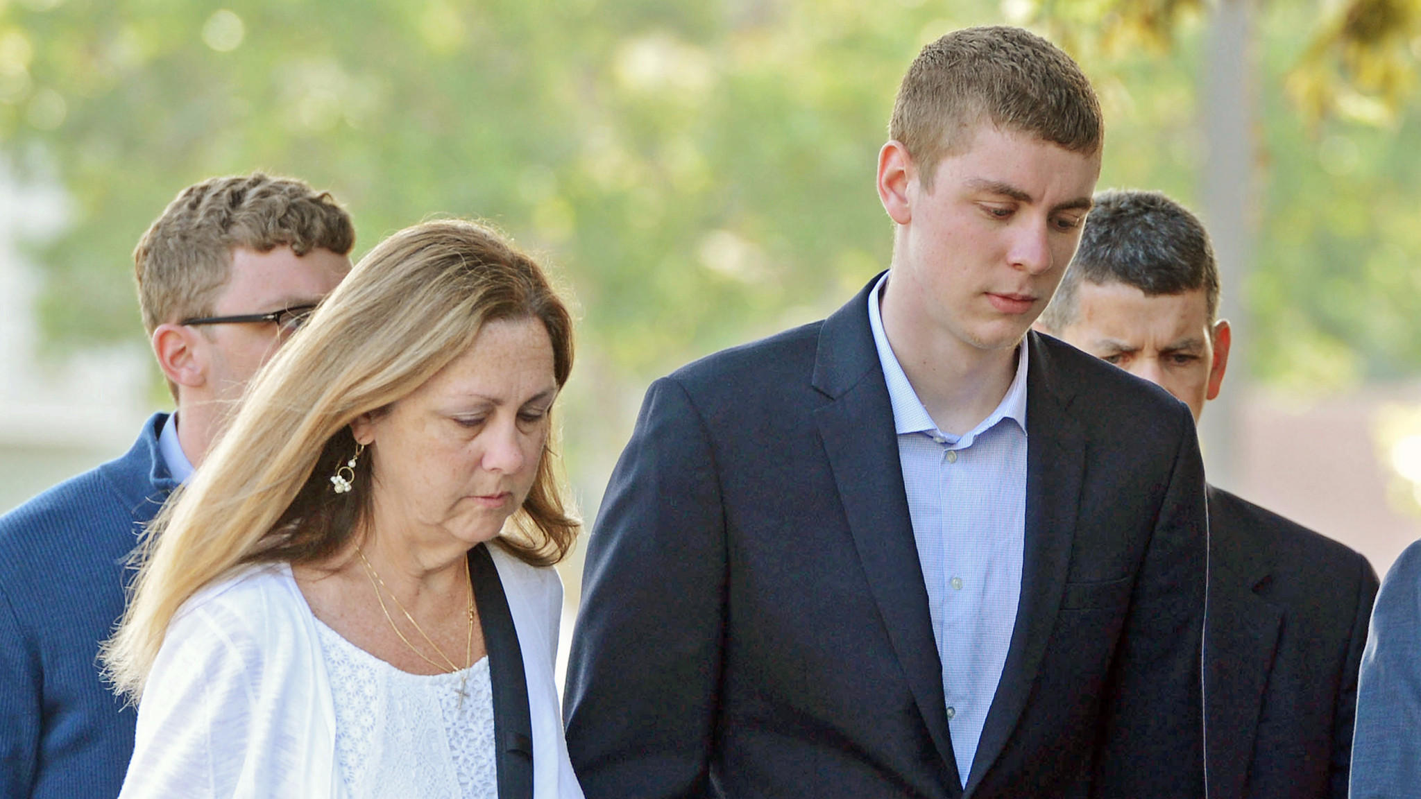 Brock Turner, right, was convicted of sexually assaulting a woman after a Stanford fraternity party. (Dan Honda / Bay Area News Group)