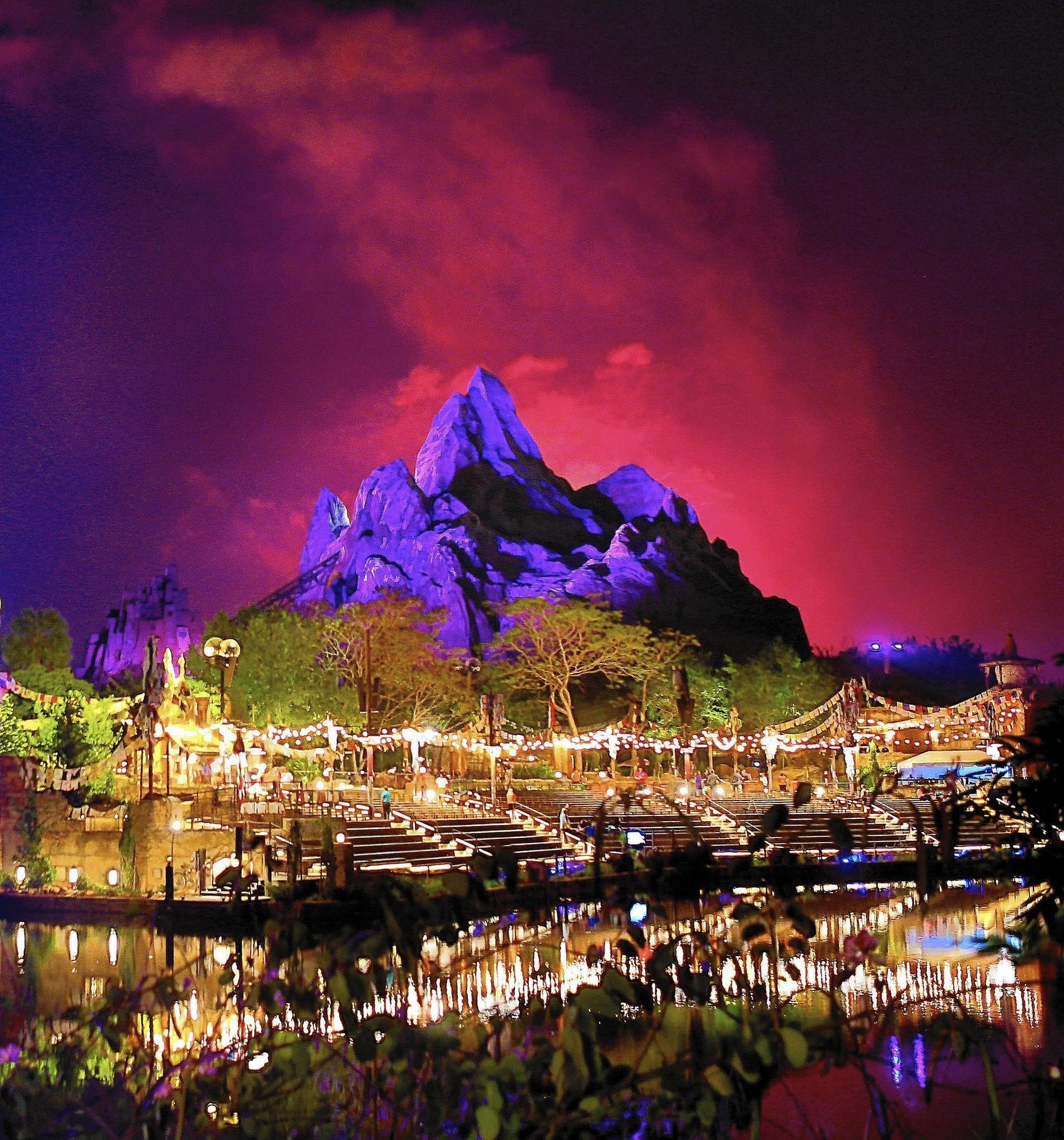 Medicare >> Pictures: Disney's Animal Kingdom at night - Orlando Sentinel