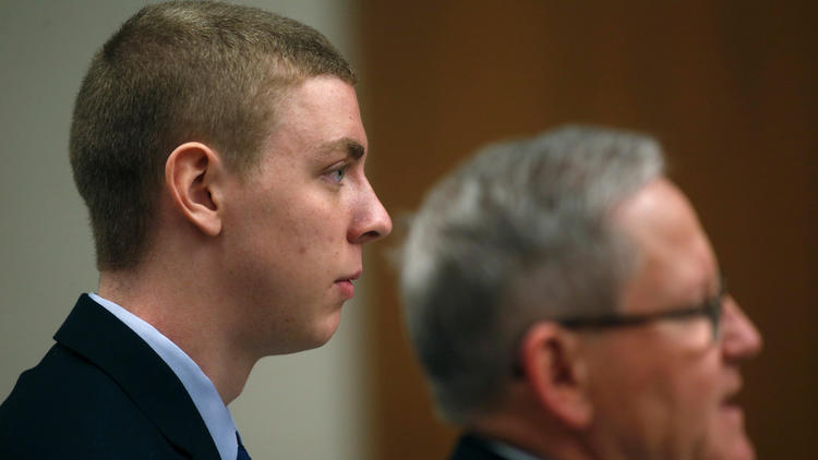 Former Stanford student and athlete Brock Turner appears in a Palo Alto courtroom on Feb. 2, 2015. (Karl Mondon / San Jose Mercury News via Associated Press)