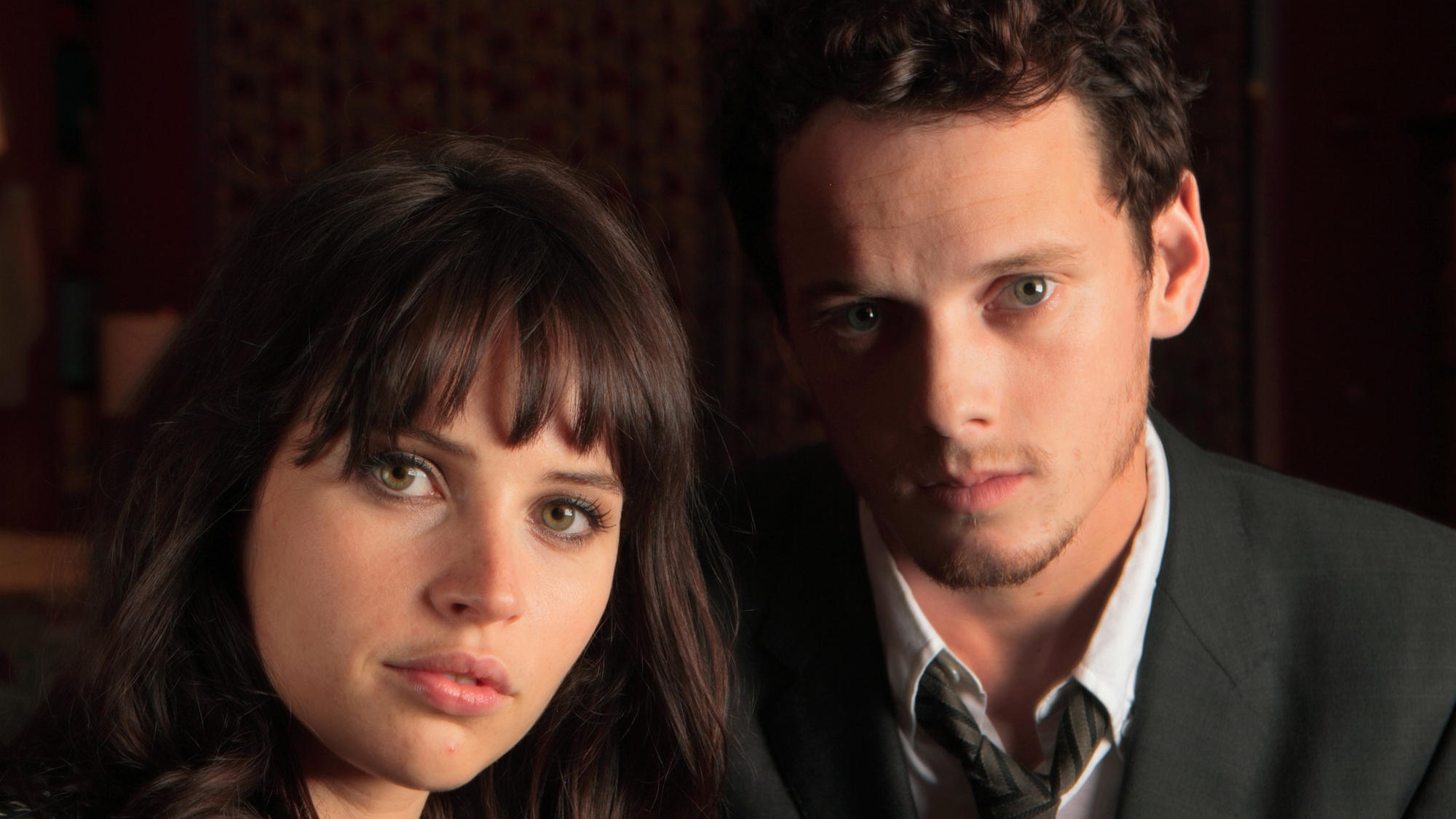 "Felicity Jones and Anton Yelchin, who starred together in ""Like Crazy."""