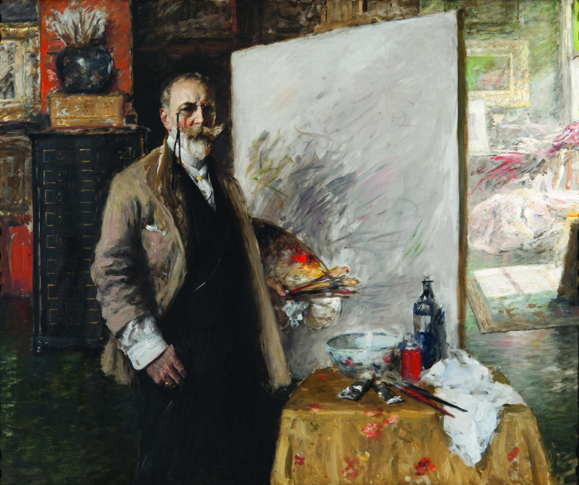 Restoring The Portrait Of An Artist How A New Exhibition Is Giving William Merritt Chase His Due Los Angeles Times
