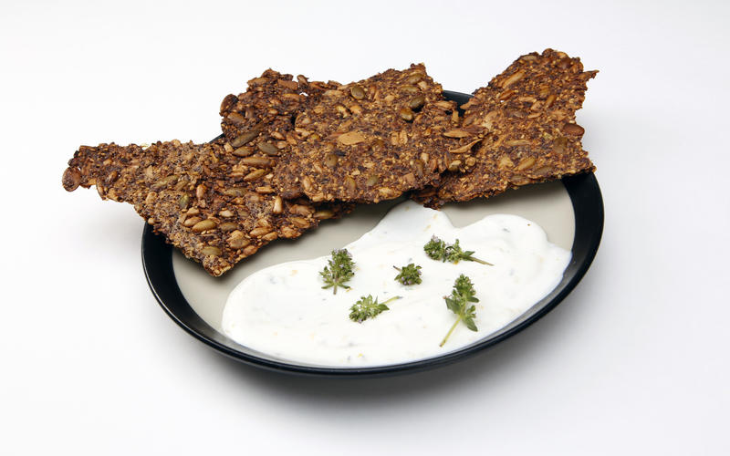 Leona's seeded crackers and cheese