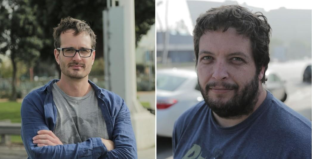David Farrier, left, and Dylan Reeve are co-directors of