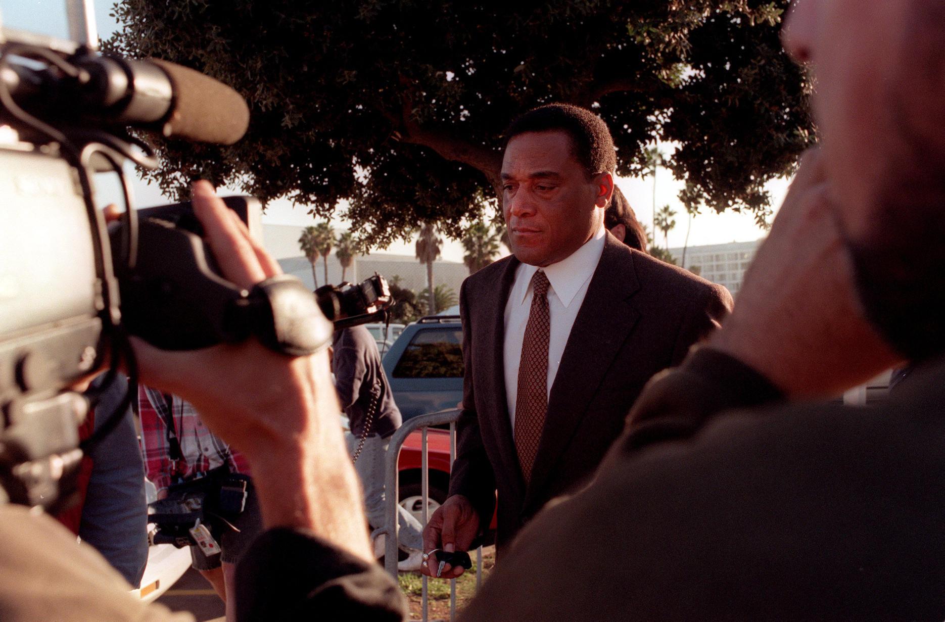 Al Cowlings outside court in Santa Monica in 1996.