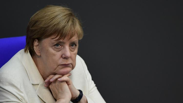 German Chancellor Angela Merkel at a special session of the German parliament on Brexit in Berlin. (John MacDougall / AFP/Getty Images)