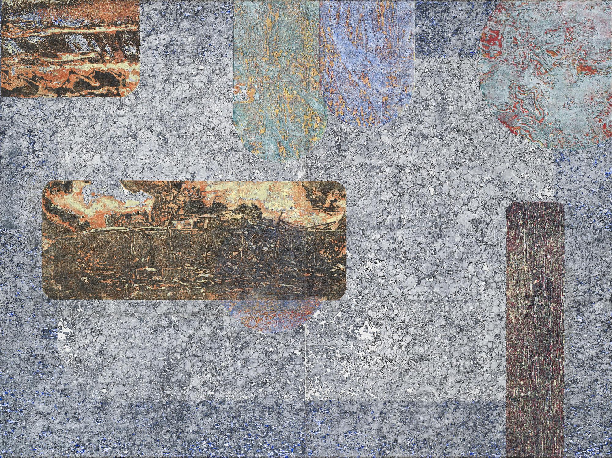 """Epilogue II,"" woodblock print by Martin Werthmann."