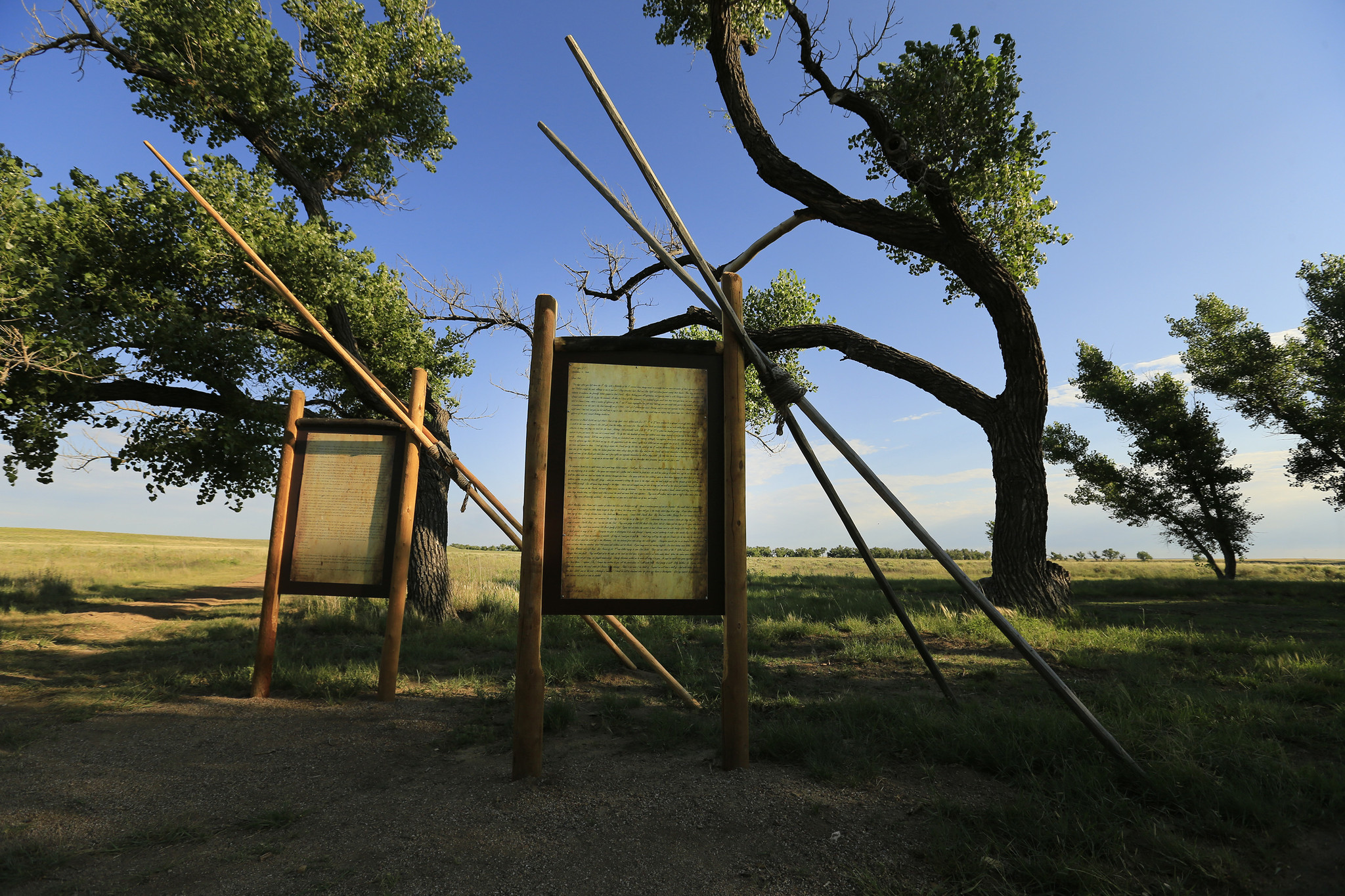 Letters written by witnesses of the Sand Creek Massacre are on display.