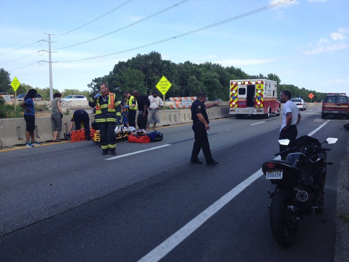 Dispatch: Motorcycle accident halts I-64 eastbound traffic at Fort