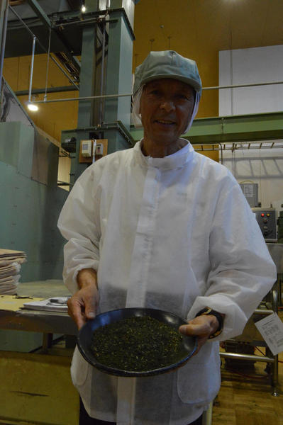 Tsuyomi Masuda, president of the Yamama Masudaen tea company, at his factory in Shizuoka prefecture.