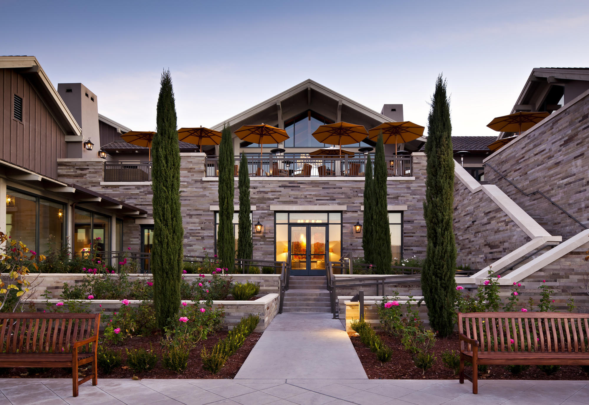 Rosewood Sand Hill in Menlo Park tied for 37th place among the 100 best hotels in the world.