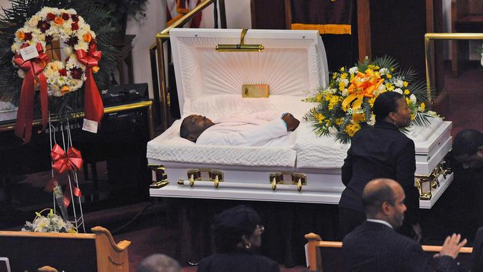 Eric Garner's funeral was held at Bethel Baptist Church in Brooklyn, N.Y.
