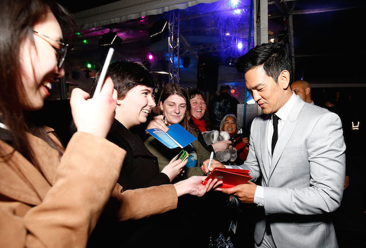 John Cho signs autographs at the Australian premiere of 'Star Trek Beyond' on Thursday in Sydney.