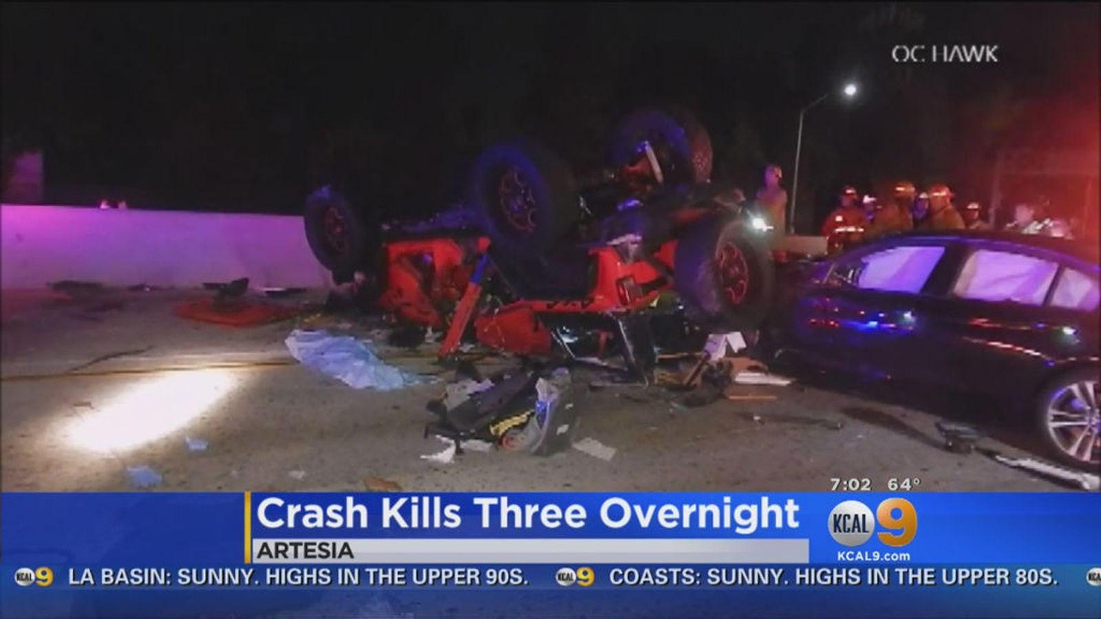 Crash on 91 Freeway in Artesia kills man and two children - News