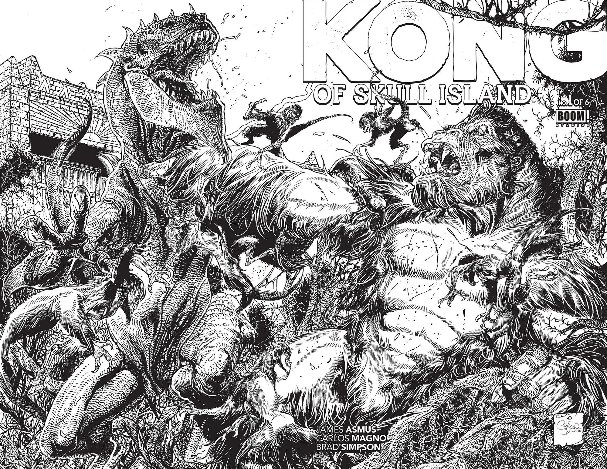 The coloring book variant cover for