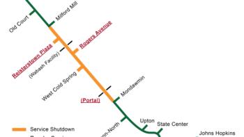 Subway Map Of Baltimore.Baltimore Metro Subway To Partially Close For Weeks Of Maintenance