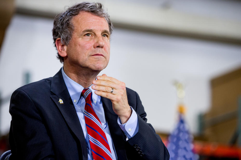 Sen. Sherrod Brown (D-Ohio) is seen in Cleveland.