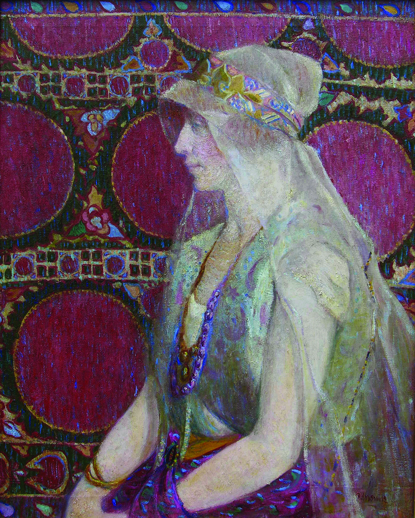 "Peter Krasnow, ""Portrait of a Woman,"" 1919, oil on canvas"
