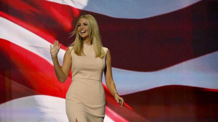 Ivanka Trump at the Republican National Convention in 2016. (Brian van der Brug / Los Angeles Times)