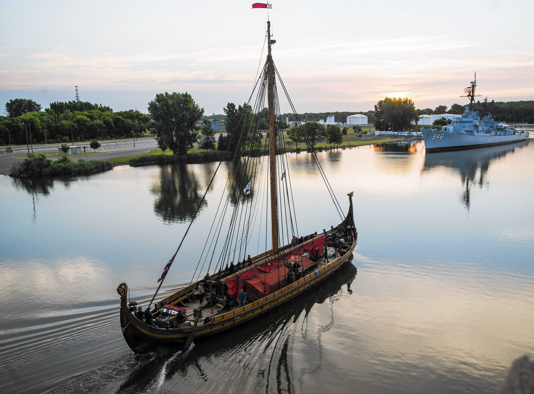 Viking longship captain at odds with U.S. Coast Guard ...