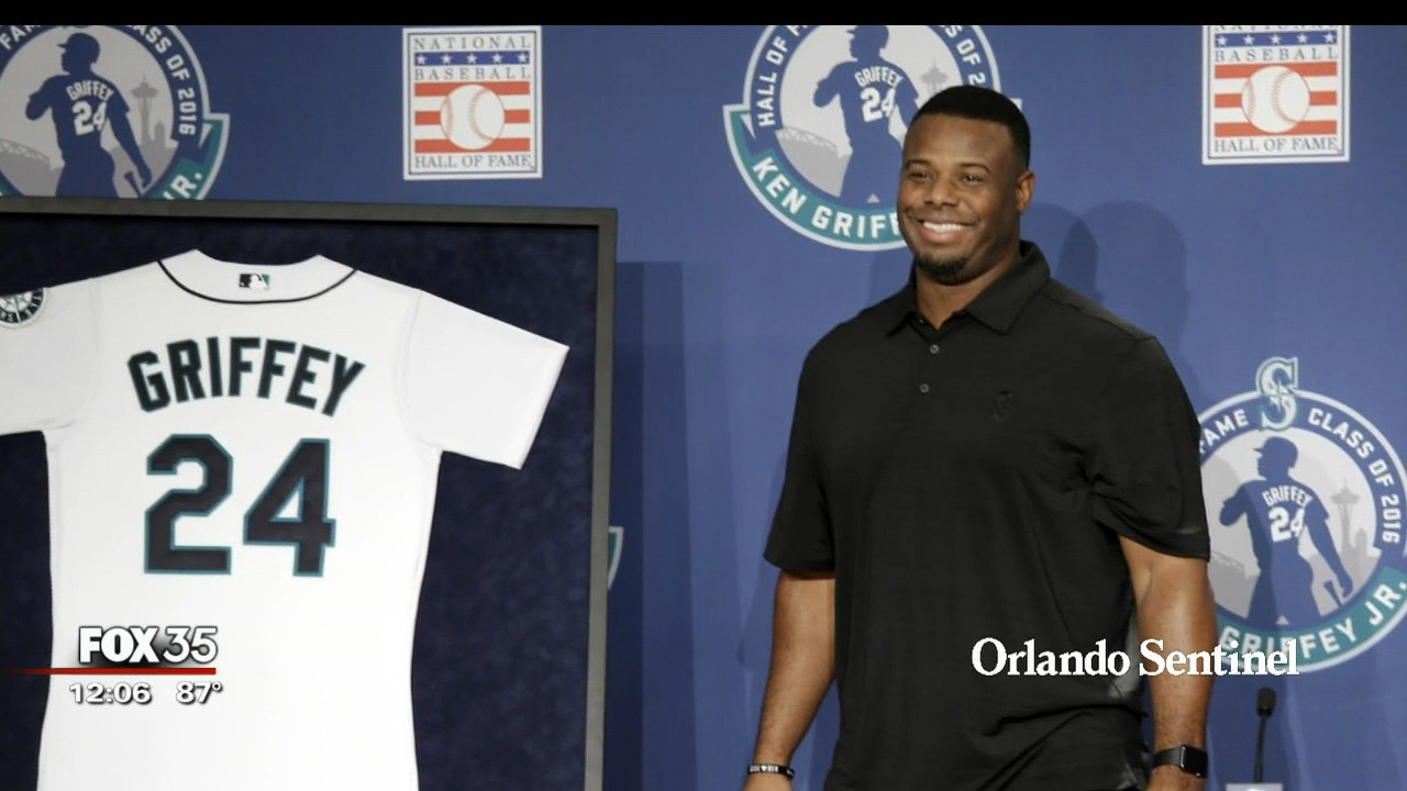 new arrival e59e9 77e39 Ken Griffey Jr. to be inducted into Hall of Fame - Orlando ...