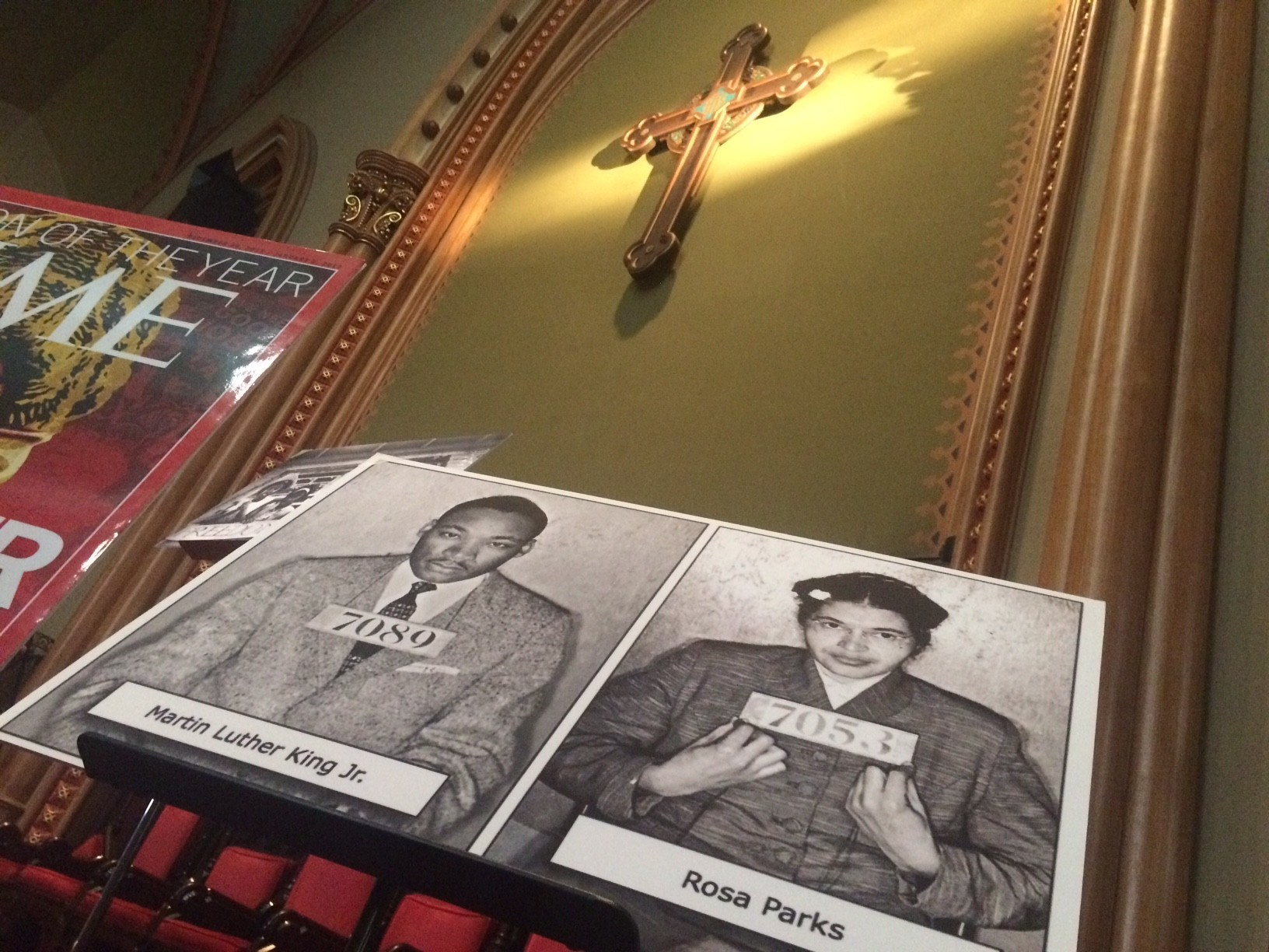 Mugshots of Martin Luther King Jr. and Rosa Parks at Arch Street United Methodist Church in Philadelphia
