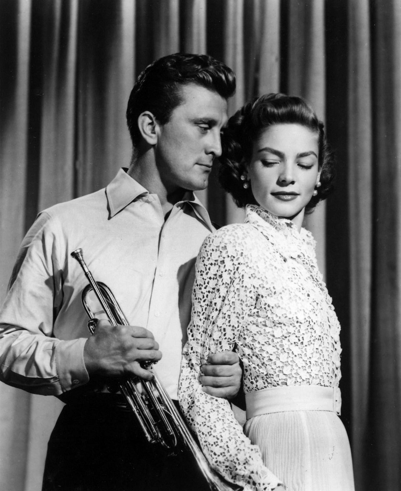 Kirk Douglas and Lauren Bacall in