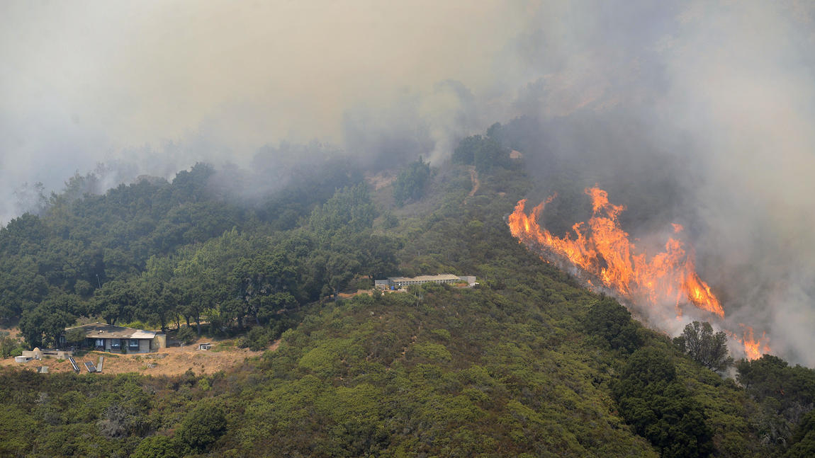 The Soberanes fire burns in Palo Colorado Canyon.