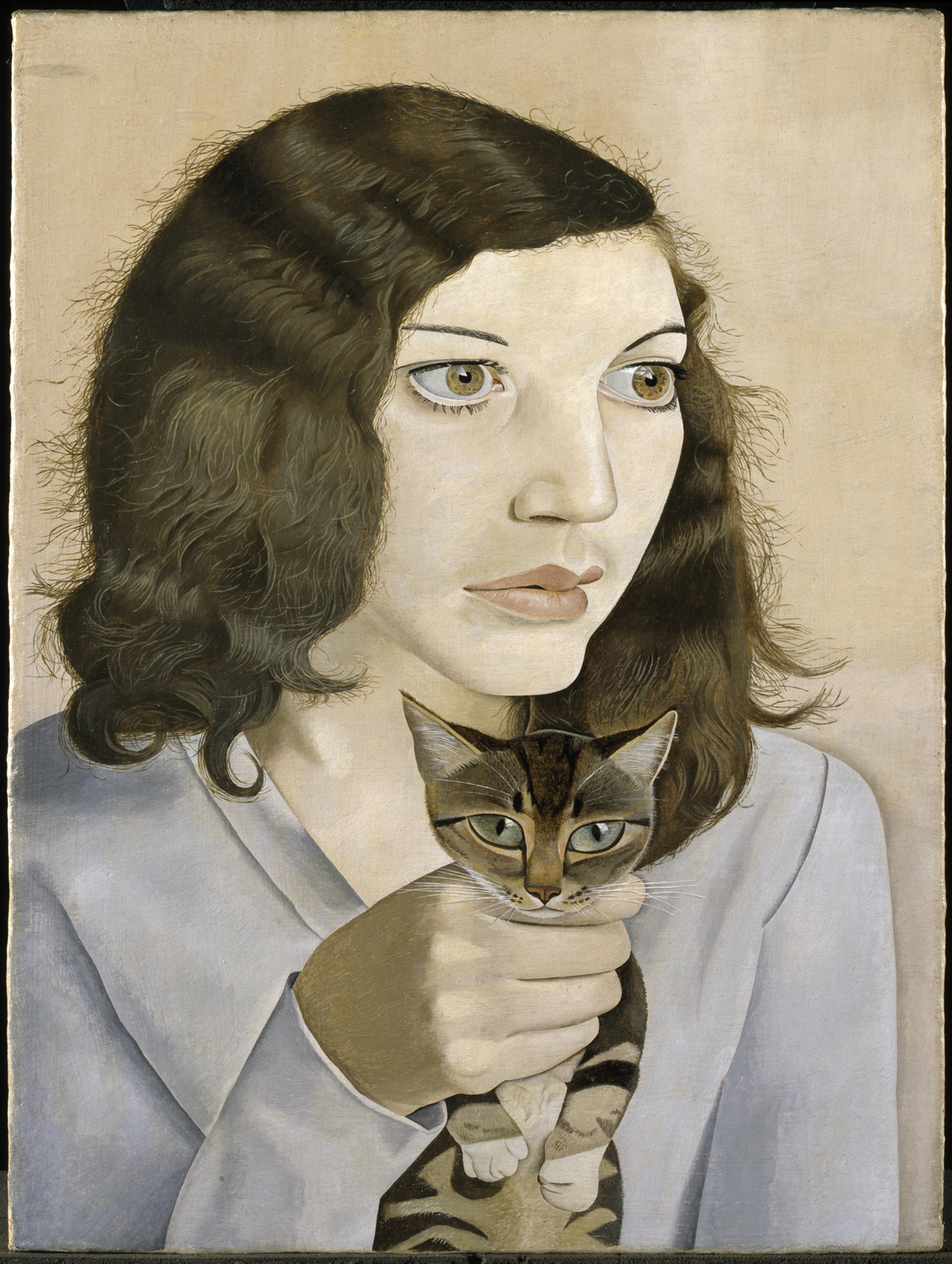 Lucian Freud, born in Berlin, embraced powerful motifs from German New Objectivity painting in his early work