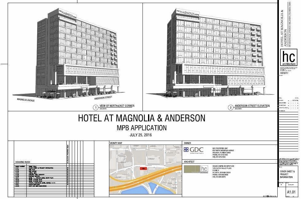 plans filed for new downtown orlando hotel next to dr phillips center orlando sentinel. Black Bedroom Furniture Sets. Home Design Ideas