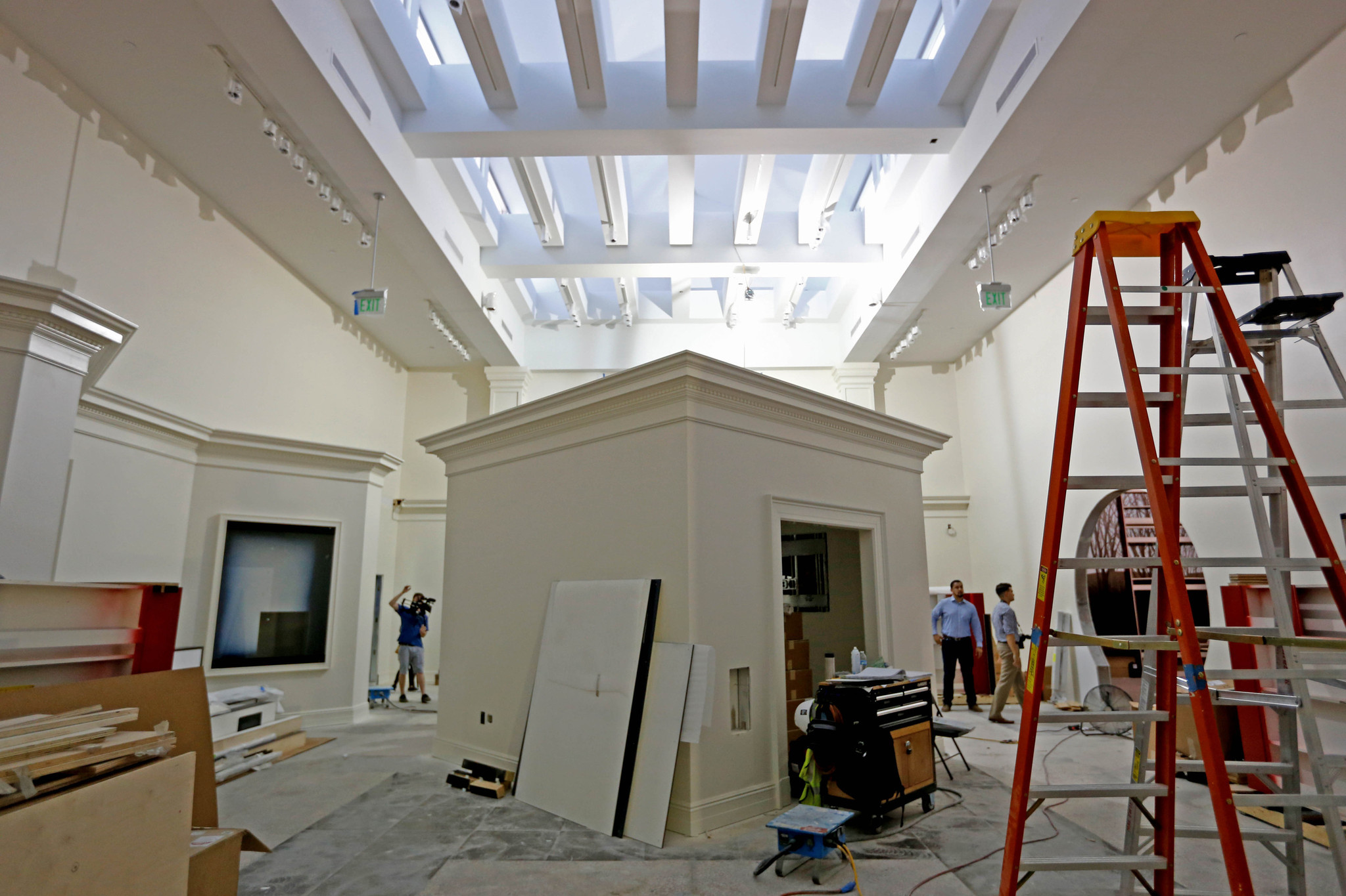 The museum, scheduled to open to the public on Oct. 14, 2016, after a $15-million renovation, will feature nearly 70 new major exhibits, Yorba Linda, Calif., on July 12, 2016.
