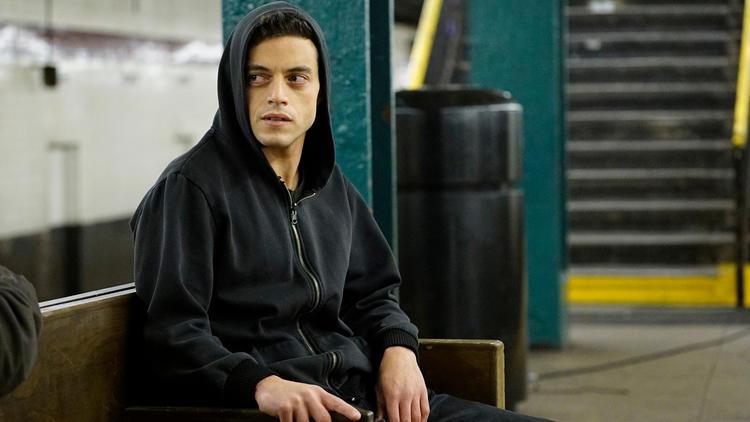 """Rami Malek as """"Mr. Robot."""""""