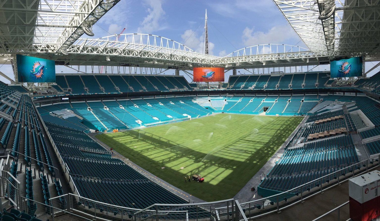 Dolphins New Grass Field Designed To Thrive While Canopy