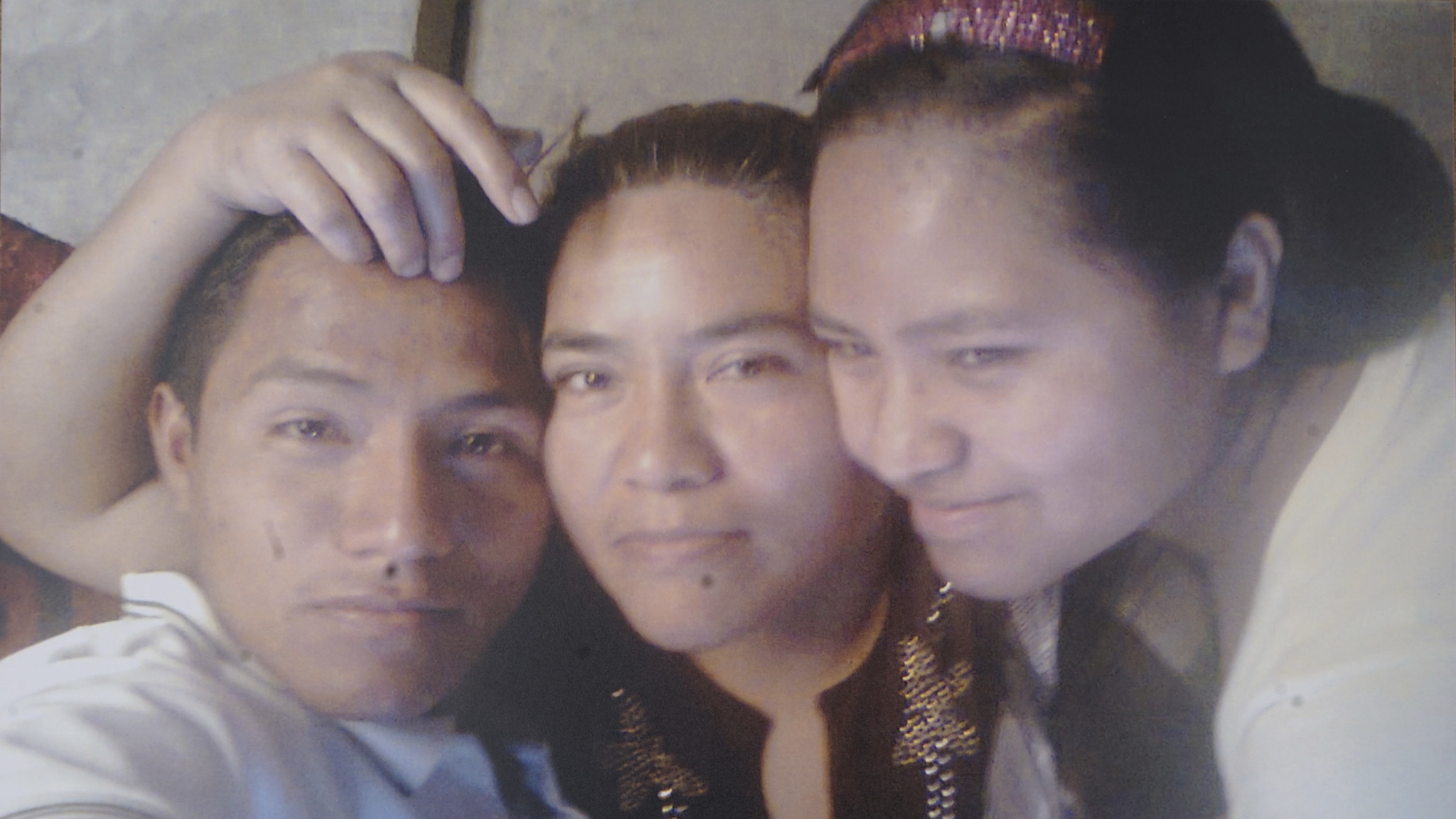 A selfie taken by Jesus Cadena Sanchez, 19, with mother Patricia Sanchez Meza and sister Maria Fernanda.