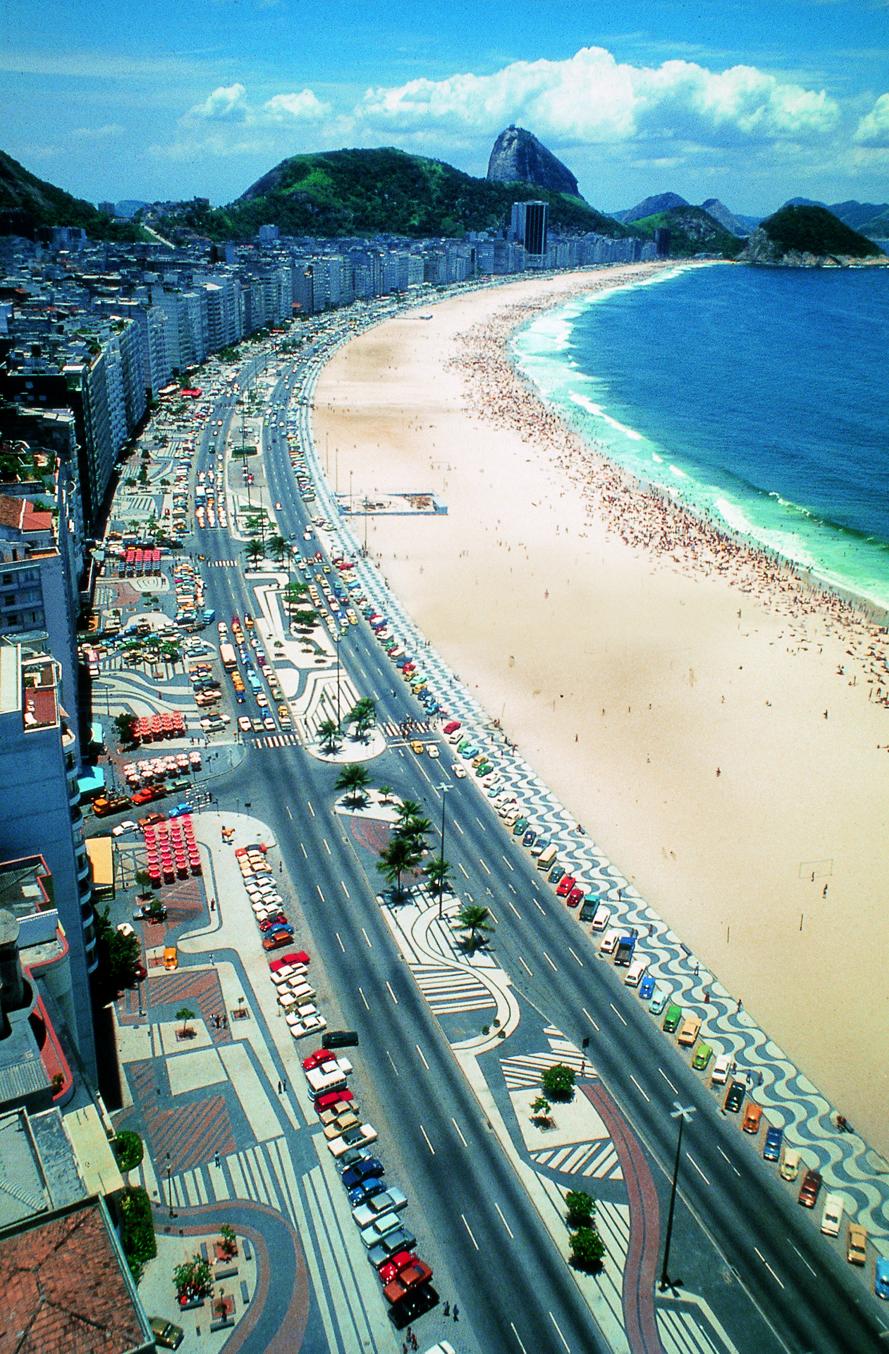Avenida Atlantica, along Rio's Copacabana Beach, was redesigned by Burle Marx in 1970.