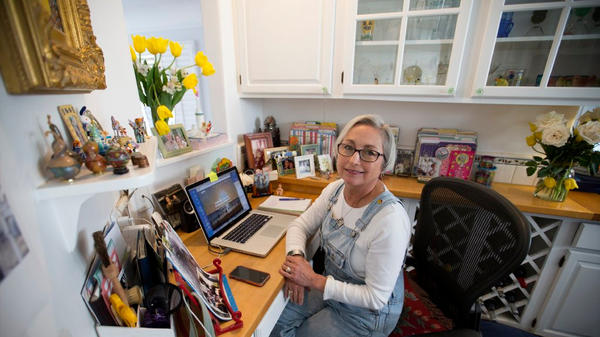 Susan Jordan, who created and runs the California Coastal Protection Network, is seen in her Santa Barbara office. (Allen J. Schaben / Los Angeles Times) None