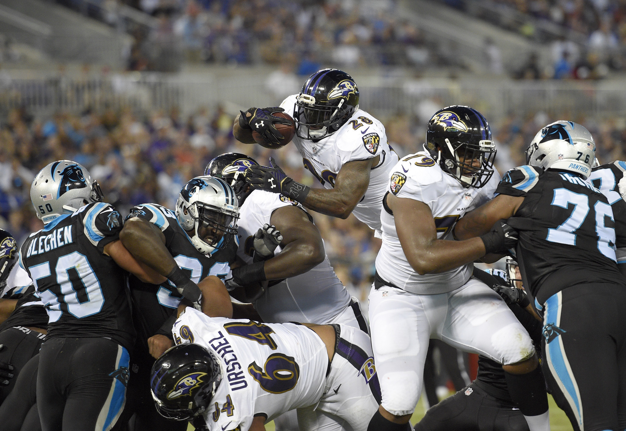 photos from the ravens 22 19 preseason win over the panthers